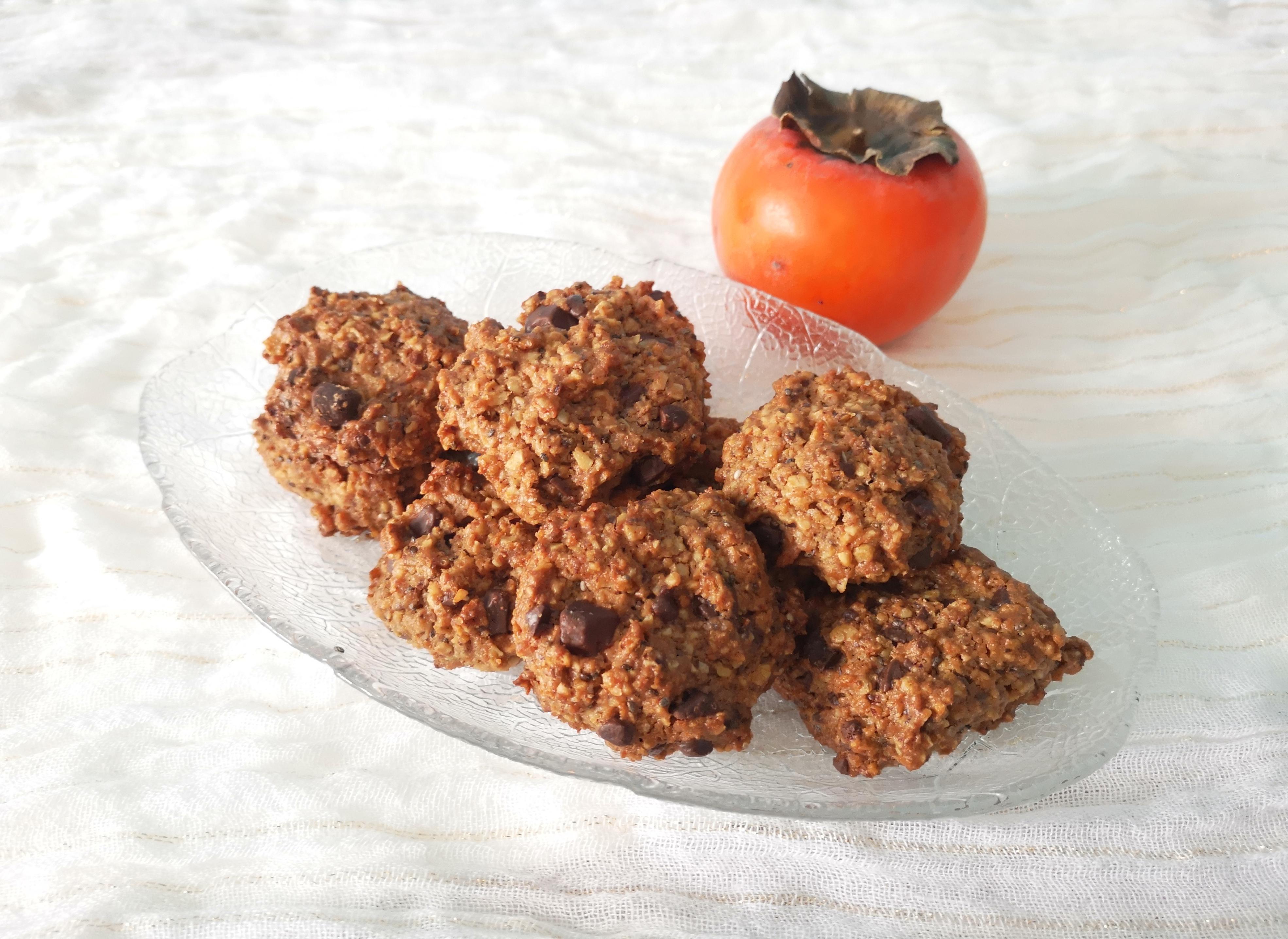 Hazelnut oatmeal cookies with chocolate
